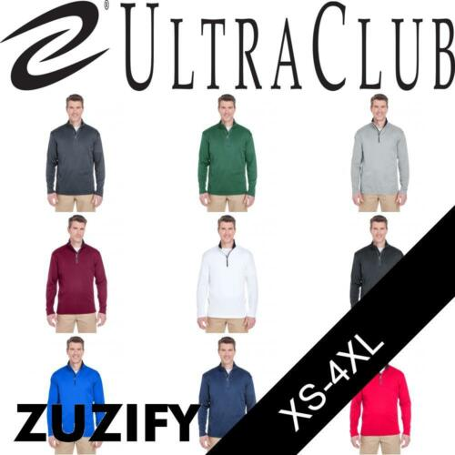 UltraClub Cool /& Dry 1//4 Zip Performance Pullover 8230