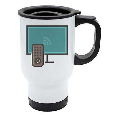 Geek Travel Mug - Smart Wifi Tv Remote Control - Thermal - White Stainless Steel