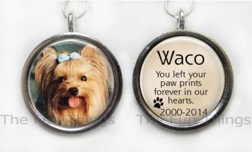 2-Sided Custom Personalized Pet Memorial Photo Message Pendant Charm Keepsake