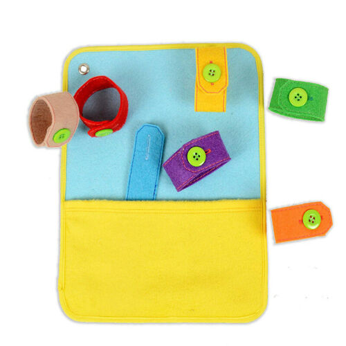 Kids Toodler Learn To Zip Button Snap Buckle Tie Lace Book Educational Toy LA