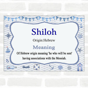 Shiloh Name Meaning Nautical Certificate | eBay