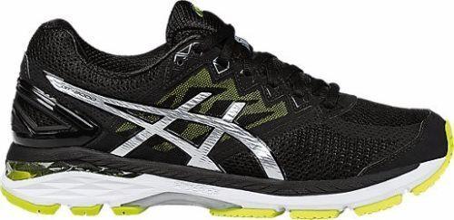 ASICS para hombre GT 2000 4 running zapatos tenis T606N-9093 negro Lima Plata Nuevo En Caja