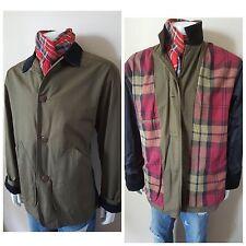 J. Crew Plaid Khaki Ranch Farm Western Coat Jacket Med Large Mens 40 42 Worn1x