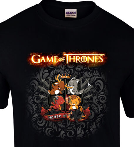 Game of Thrones cartoon crest house shield Gift humor Funny S-XXL