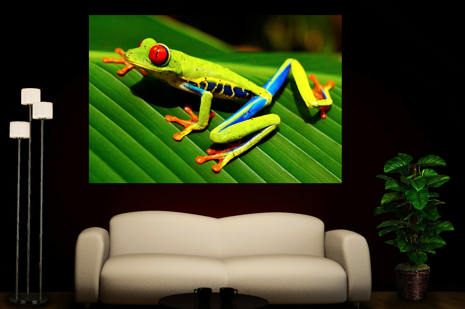 Canvas Giclee Home Prints Fine Art rot Eyed Grün Tree Frog Photo Print Farbeful