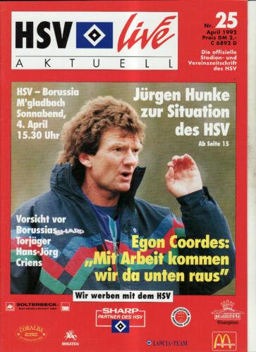 BL 91//92 Hamburger SV Borussia Mönchengladbach
