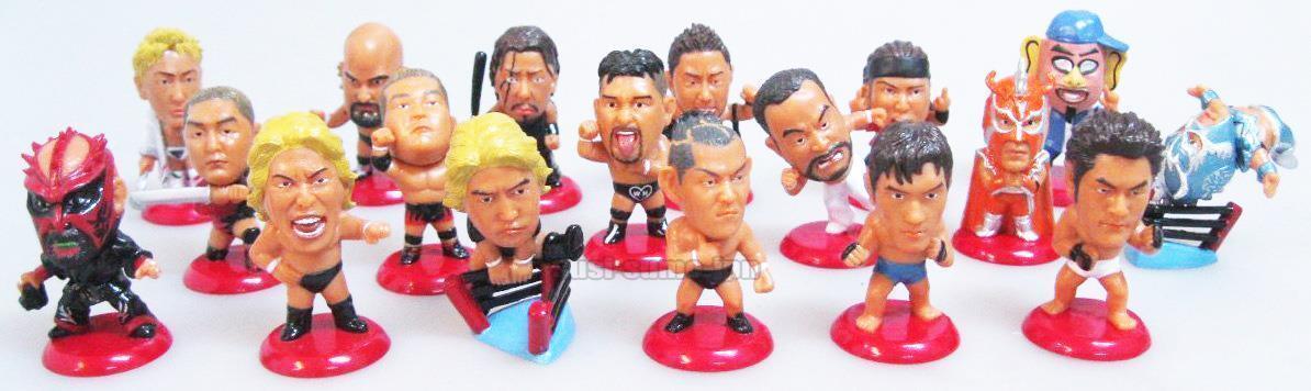 NJPW AJPW PRO WRESTLING MINI BIG HEAD FIGURE Great Muta Ultimo Dragon Bernard