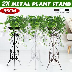 2pcs Tall Plant Stand Dispaly Shelf Planter Flower Pot Garden Patio Rack Outdoor
