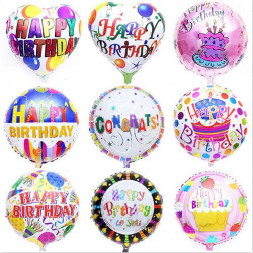 2Pcs Happy Birthday Aluminum Foil Balloons Birthday Wedding Party Decoration HFC