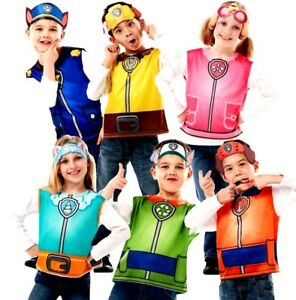Child PAW PATROL Fancy Dress Costumes Cartoon Girls Boys Kids ...