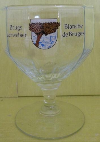 OD436 * 25 CL VERRE A BIERE BLANCHE DE BRUGES COLLECTOR