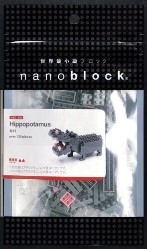 Nanoblock Hippopotamus Building Kit 130 Pcs NBC-049
