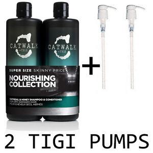 TIGI-Catwalk-Oatmeal-and-Honey-Duo-Shampoo-amp-Conditioner-750ml-PUMPS