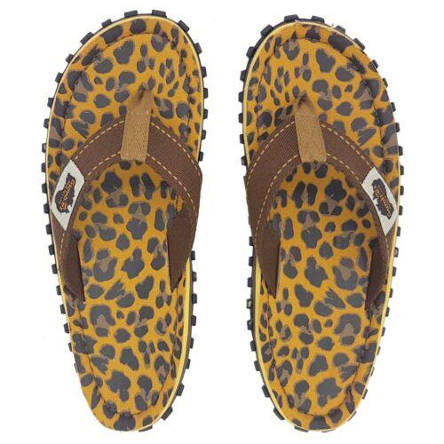 Gumbies Leopard Islander Canvas Flip-Flops