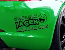 """Aufkleber """"Überhol ruhig jagen macht mehr Spaß"""" Auto Tuning Decal Stickerbomb"""