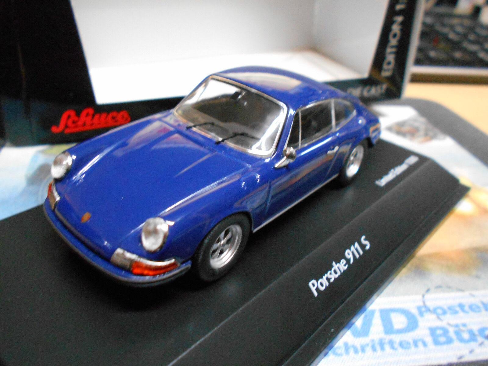Porsche 911 s coupé bleu bleu 1972 1 1000 Lim schuco 1 43