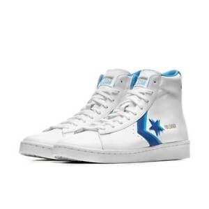 Converse PRO Pelle Leather Mid Bianco Blu 169035c 40 41 42 43 44 45