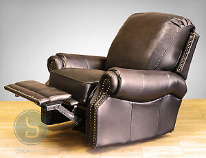 Barcalounger Premier Ii Genuine Leather Recliner Lounger Chair