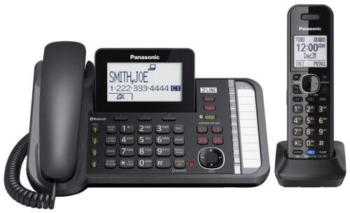 Panasonic KX-TG9581B Link2Cell DECT 6.0 1-Handset 2-Line Digital Cordless Phone