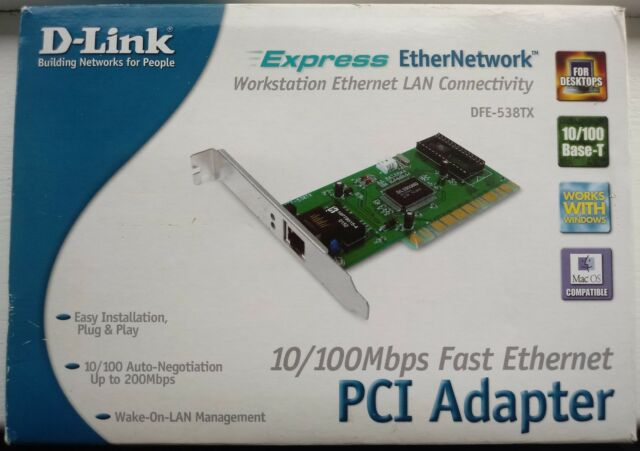 DLINK DFE 538TX LAN CARD DRIVER FOR WINDOWS 10