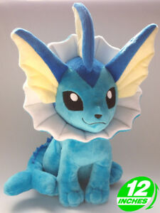 12-034-Wow-Pokemon-Vaporeon-Plush-Anime-Stuffed-Animal-Doll-Toy-Game-PNPL8143