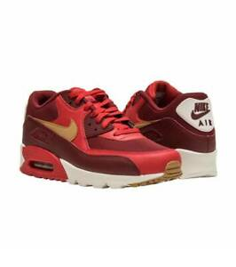 3c10b770e78 New NIKE AIR MAX 90 Essential Size 8 Game Red Elemental Gold 537384 ...