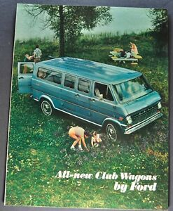 Details about 1968 Ford Club Wagon Van Truck Brochure Folder Chateau  Excellent Original 68