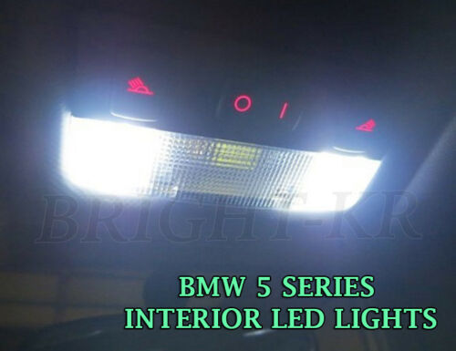 BMW 5 SERIES F10 COOL WHITE FRONT DOME MAP INTERIOR LED LIGHT BULBS SET