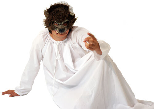 Halloween Evil Chaperon Rouge Grand Méchant Loup Costume Robe fantaisie toutes tailles