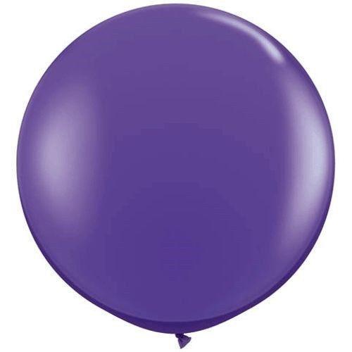 "Qualatex 3 ft Purple Violet Balloon Round Latex Rubber Large Jumbo Big 36/"" In 2"