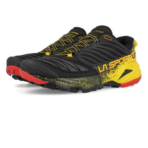 Sportiva Akasha Da Uomo La Giallo Nero Trail Running Scarpe da ginnastica scarpe sportive