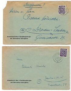 U266-BRIEFE-DRESDEN-LEUBEN-STREHLEN-1946-KANTOREI-KIRCHE