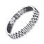 Bracciale-Uomo-Cinturino-Orologio-Acciaio-Inox-Catena-Bracialet-Man-Watch-Strap miniatura 1