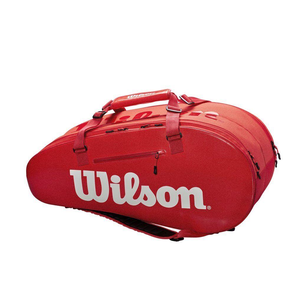 Wilson Super Tour 2 Compartment Tennis Bag (Infarosso) (Infarosso) Bag - Authorized Dealer e32339