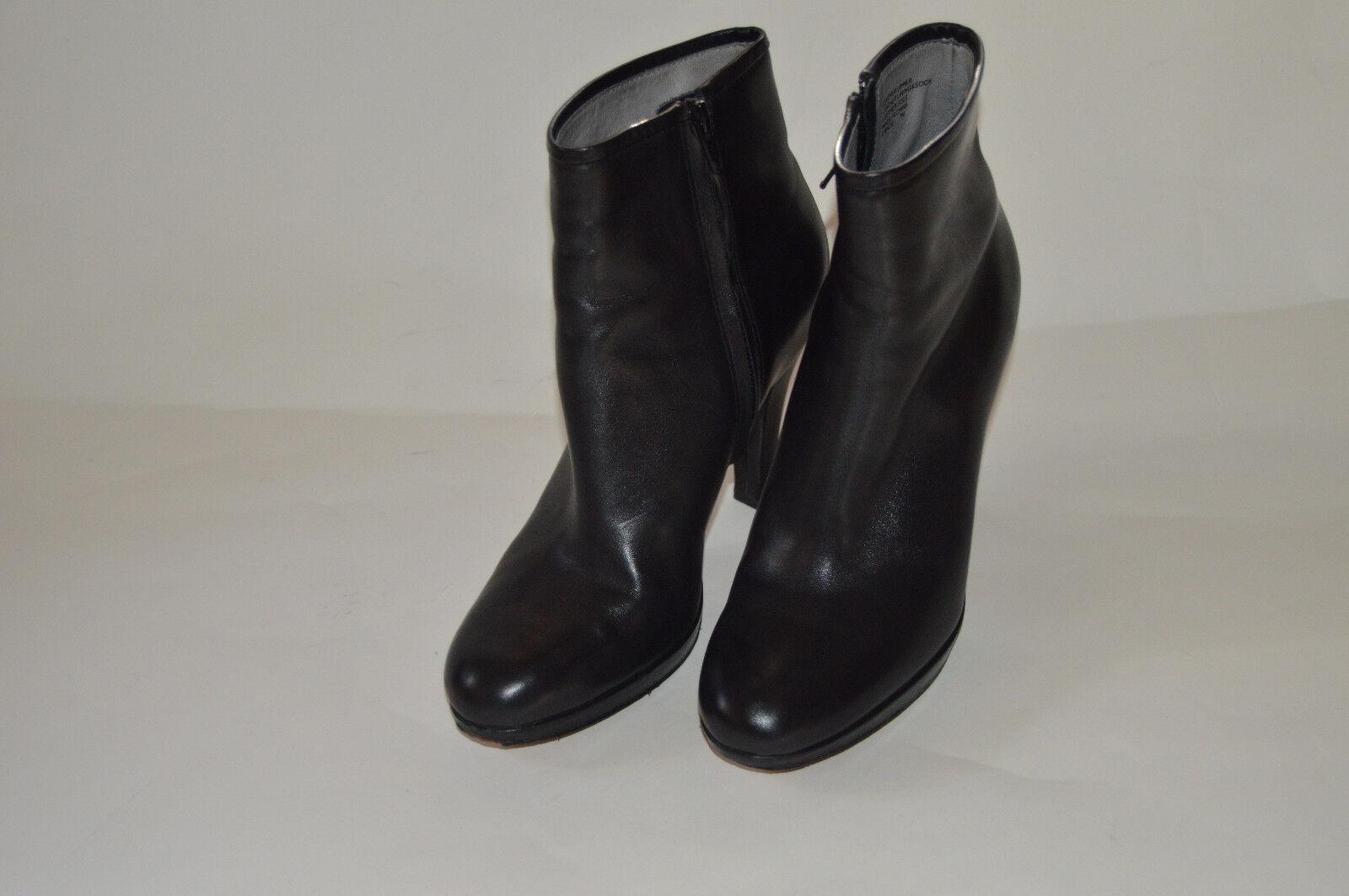 BP  Nordstrom schwarz Leder high heel ankle boots platform style 7 M