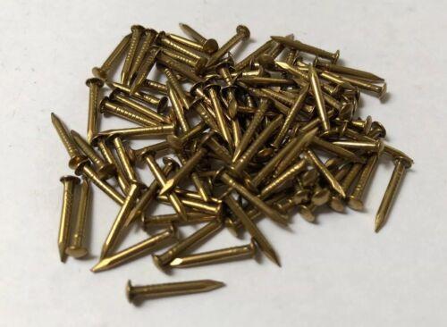 1.4mm Solid Brass Choice of 3 lengths 100 packs 17g Escutcheon Pins