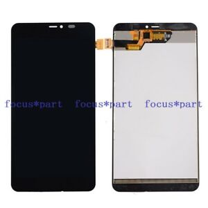 Black LIYUNSHU LCD Screen and Digitizer Full Assembly with Frame for Microsoft Lumia 640 XL Color : Black