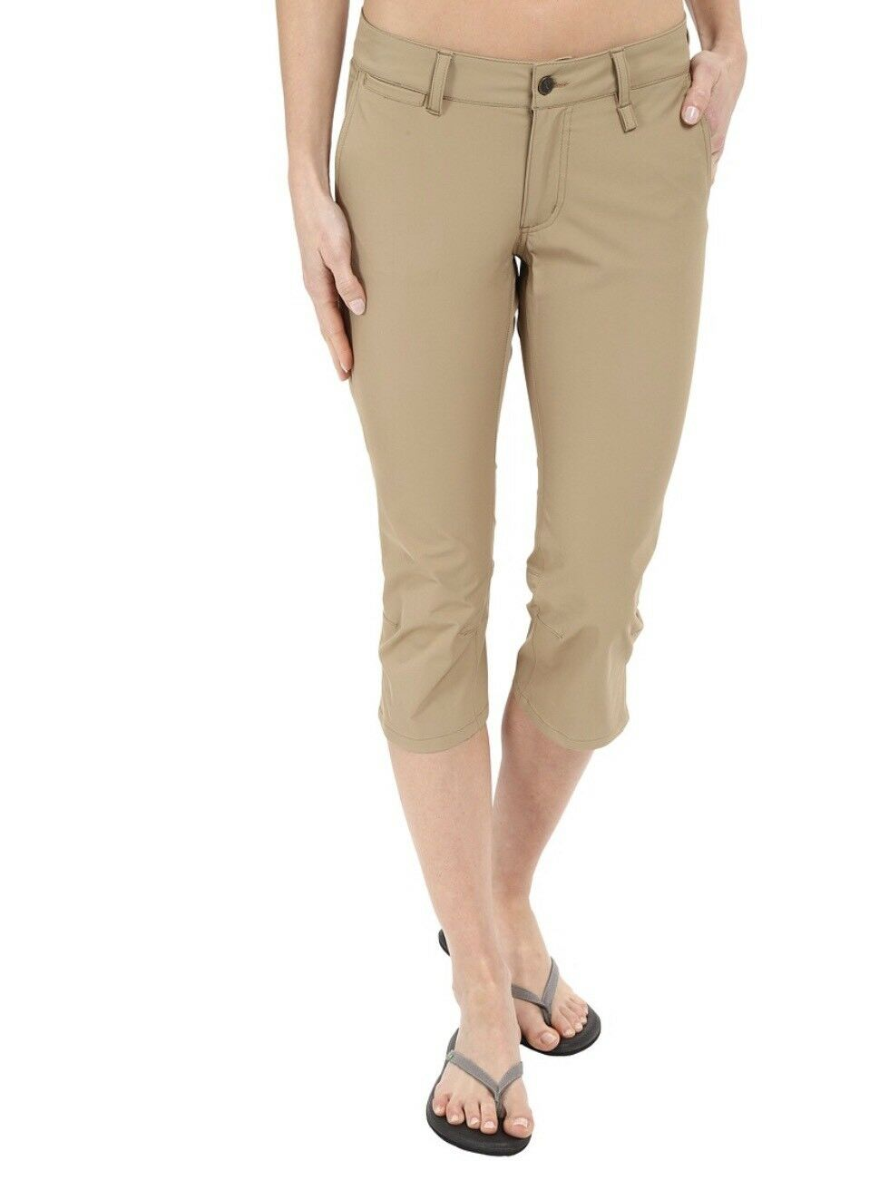 Fjallraven Abisko Capris Trousers Sand Tan Pants Hiking Size 40 US 16, 46 US 10