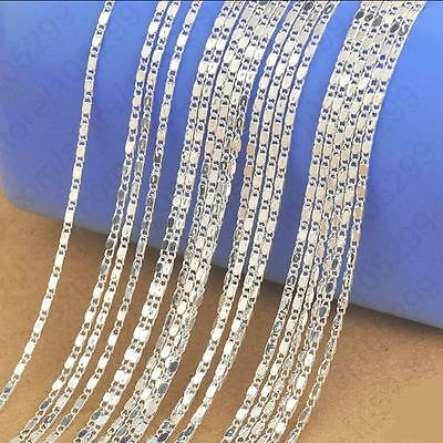 "5PCS 16-30""Wholesale jewelry Lot 925 Silver SMOOTH Chain Necklace For Pendant"