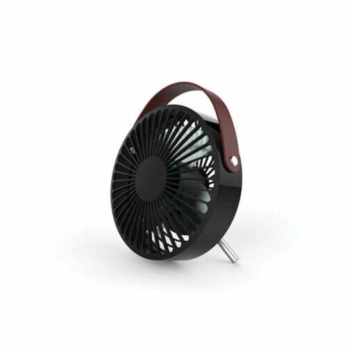Rechargeable Noir Avec Poignée Ventilateur De Bureau Usb Design Aspect Cui