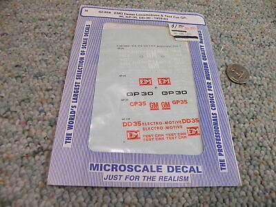 """Demonstrator GP59 Microscale Decal N  #60-524 EMD Diesels-/""""Diesel GP60 Oakw"""