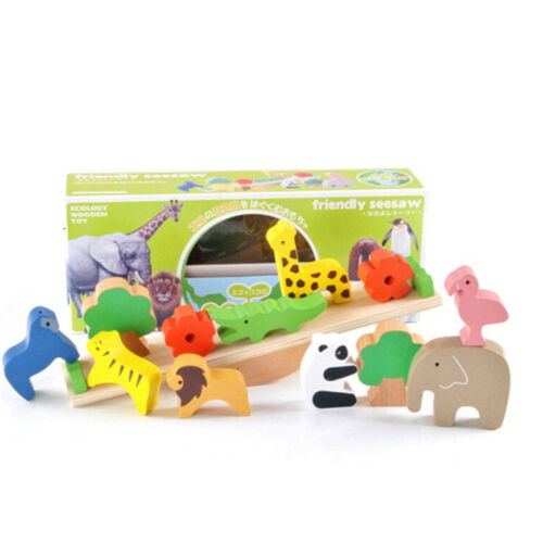Wooden Balancing Animal Ark Game Great Game to Improve Children Balance Skills Z