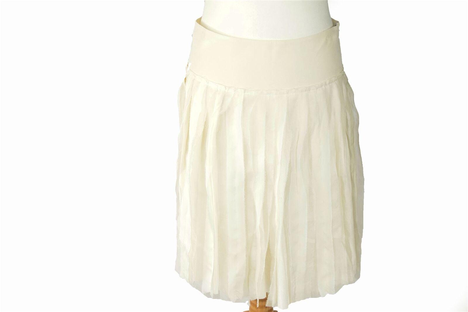DKNY White 100% Silk Skirt, US 6