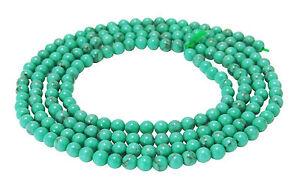 Tuerkis-Kugeln-Saatperlen-2-amp-3-mm-Edelstein-Perlen-Strang-turquoise-beads