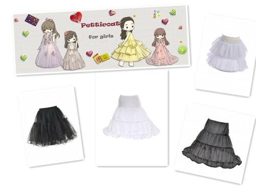 Kids Flower Girl Skirt Tutu Petticoat Wedding Dress Underskirt Grown Crinoline