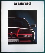 BMW 850i Car LF Sales Brochure Jan 1990 FRENCH TEXT # 011080130 1/90 VM