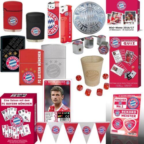 FC Bayern München Fanartikel Feuerzeug Spiele Aufkleber Wimpelkette