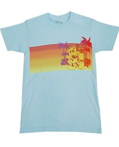 8ee66d80 Disney Blue Mickey Mouse Palm Trees Beach Top T-Shirts Men's S,M,L ...