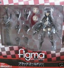 Used Max Factory Figma Black Rock Shooter Black Gold Saw PAINTED