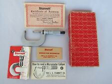 Starrett 2mxrl Outside Micrometer 25 50mm 001mm Graduation In Box With Papers
